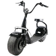 black kush steezer scooter front on